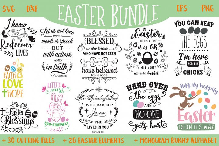 The Easter Bundle - 30 Cutting Files and Extras!