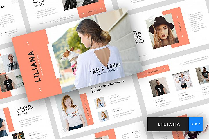 Liliana - Fashion Style Keynote Template