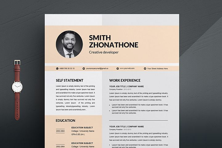 Resume Template | Modern & Professional Resume Template