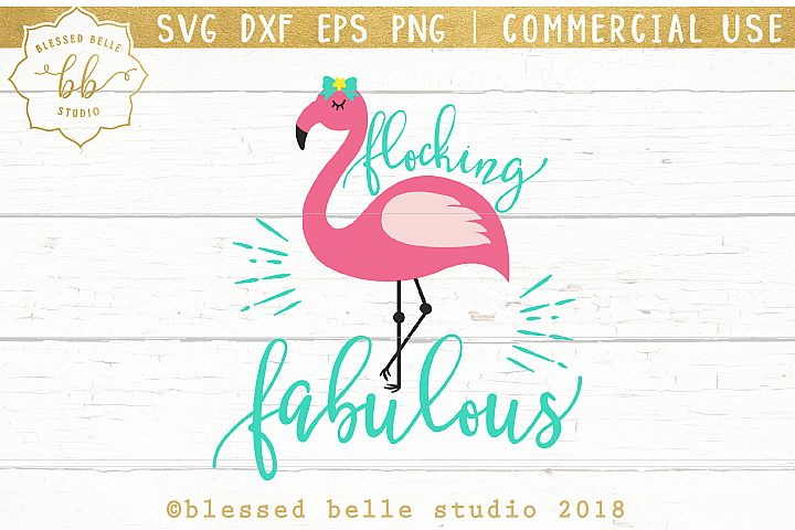 Flocking Fabulous SVG + DXF + EPS + PNG