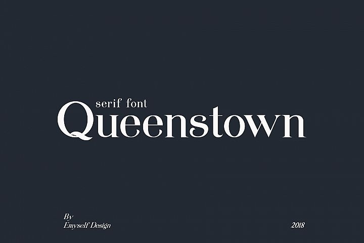 Queenstown serif font
