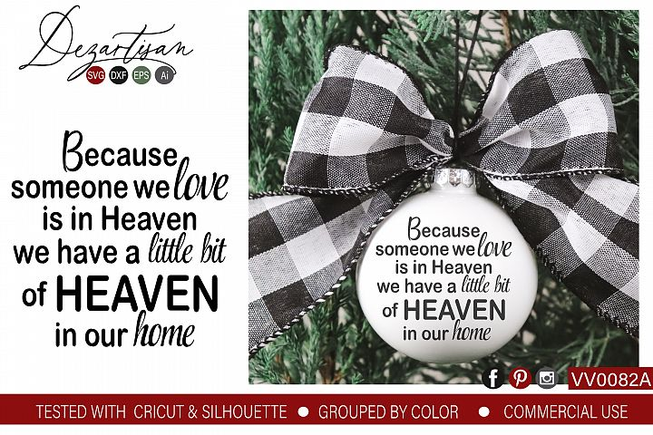 When you have someone you love in Heaven SVG DXF cut file