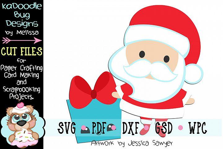 Kawaii Santa Gift Cut File - SVG PDF DXF GSD WPC