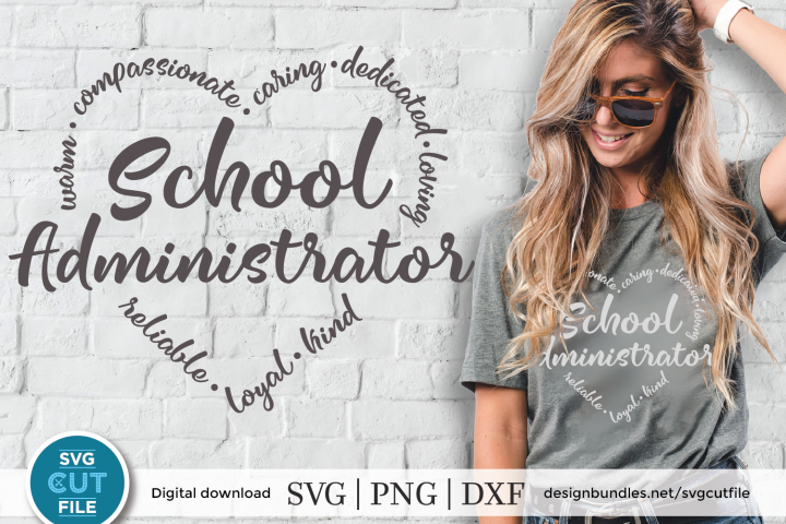 School Administrator svg - a school admin svg for crafters