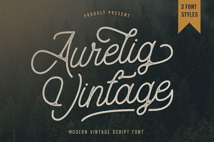 Aurelig Vintage Script