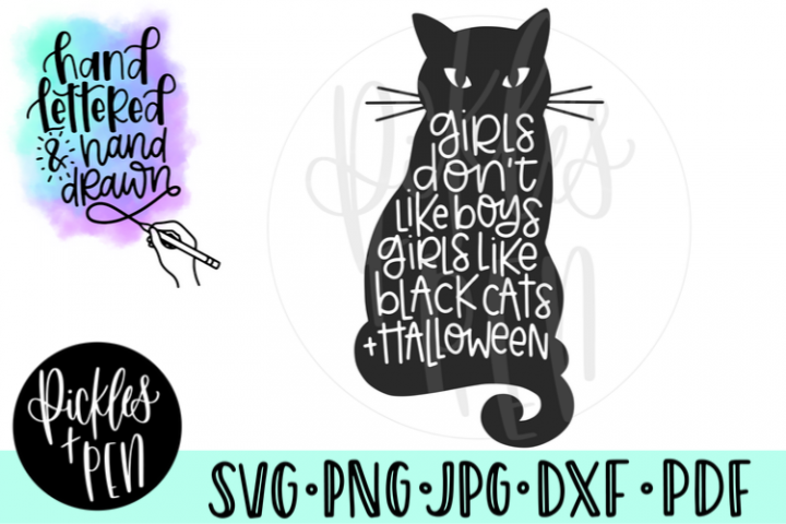 Black Cat Halloween SVG