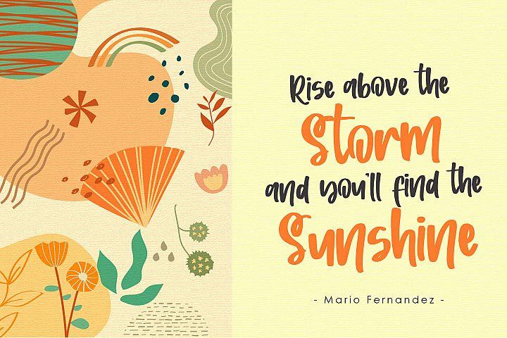 Sunshine Wishes - Handwritten Font example image 3