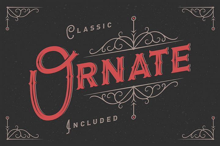 Letterhead typeface with ornate example image 3
