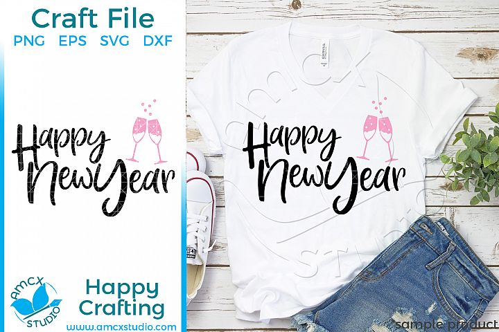 Happy New Year New Years Eve Craft SVG