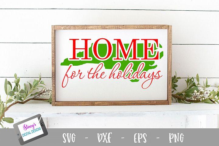 North Carolina - Home for the Holidays - Christmas SVG