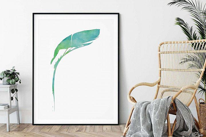 Green Tropical Palm, Printable Wall Art