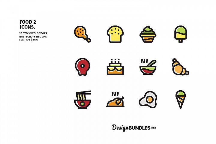Food 2 Icons