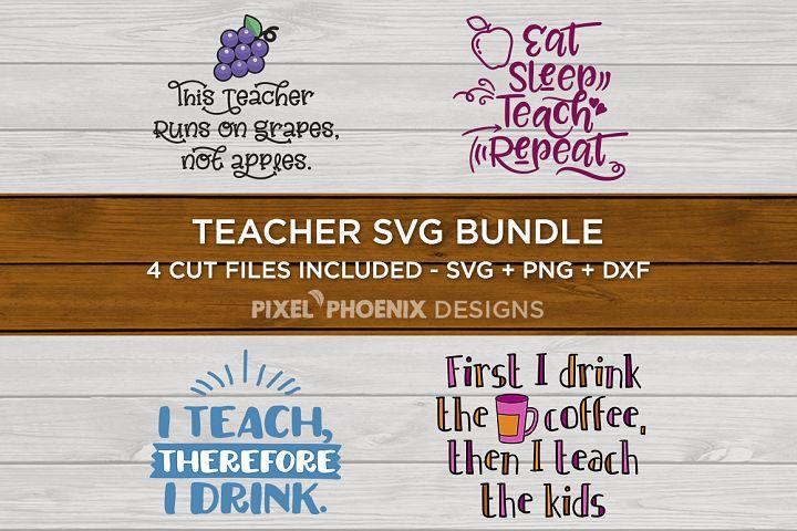 Teacher SVG Bundle - SVG PNG DXF
