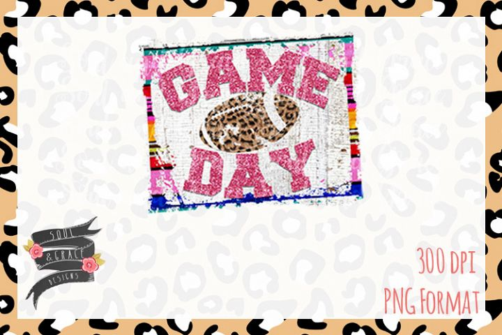 Game Day Football- INSTANT DOWNLOAD - PNG Printable