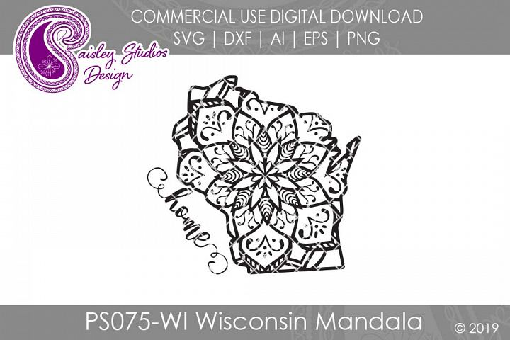 Mandala Wisconsin Home SVG DXF Ai EPS PNG