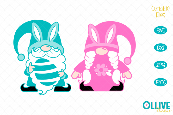 Gnomes Couple Easter Day SVG