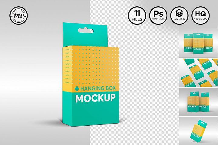 Box with Hanger Mockup