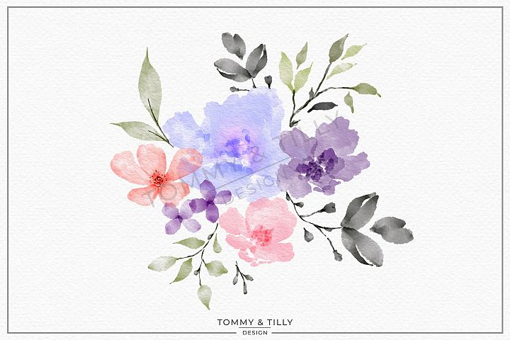 Watercolour Lilac Bouquet - Sublimation | Clipart | PNG