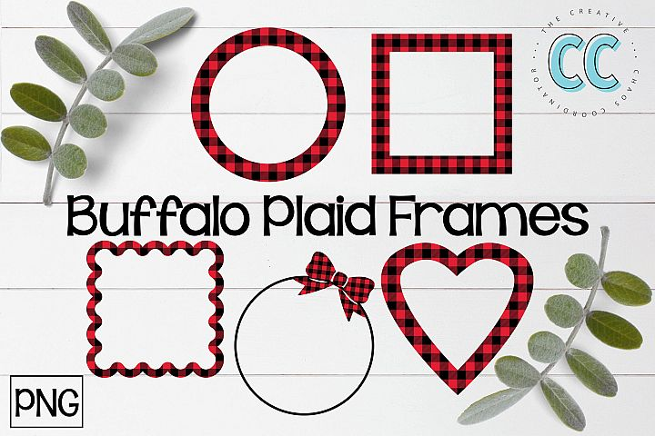 Buffalo Plaid Frames - PNG Files