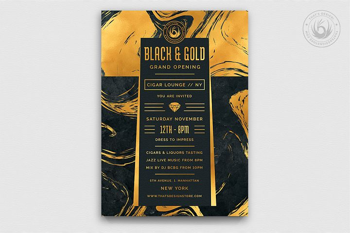 Black and Gold Flyer Template V12