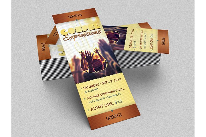 Gospel Concert Ticket Template