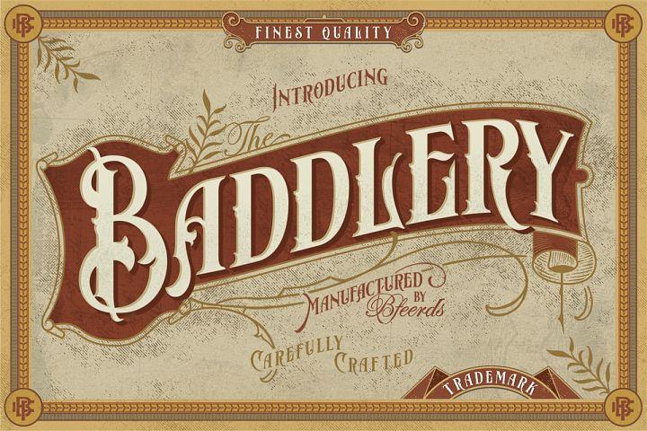 Baddlery Vintage Typeface