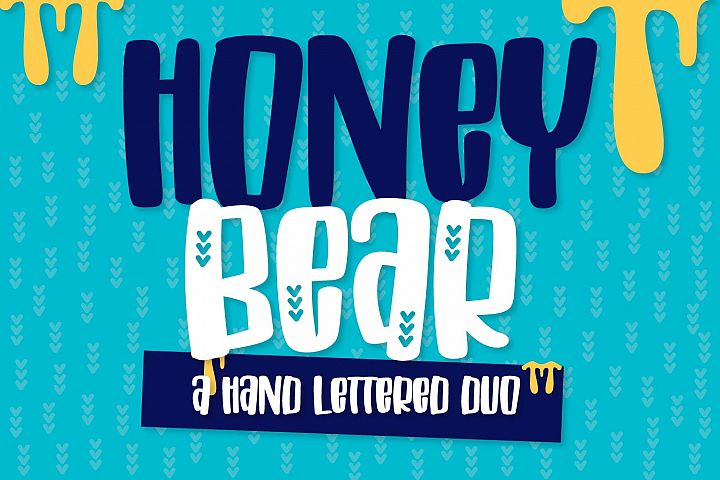 Honey Bear - A Hand Lettered Duo