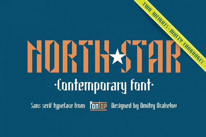 NORTH STAR typeface