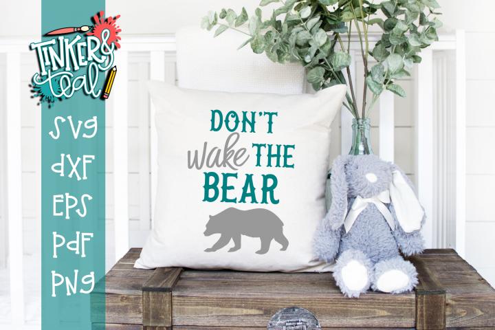 Dont Wake The Bear Nursery SVG