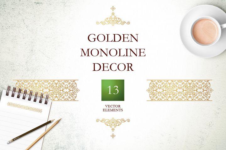 4. Set Of Vector Monoline Decor