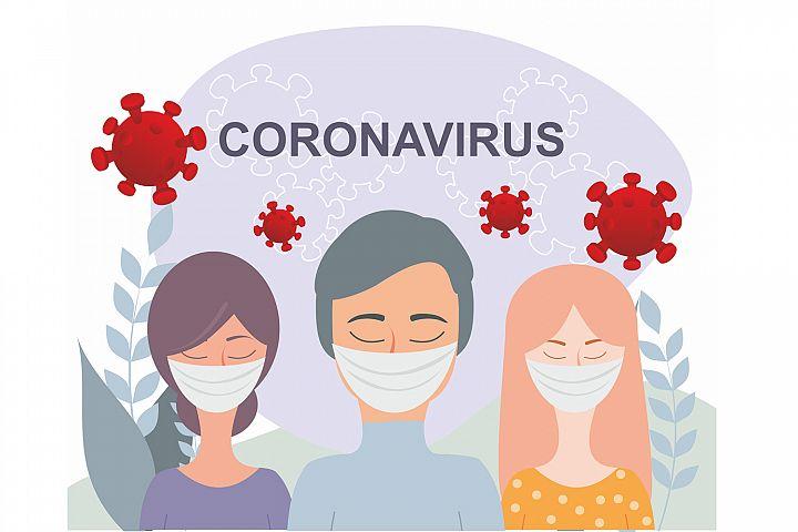 Coronavirus prevention illustration. COVID-19