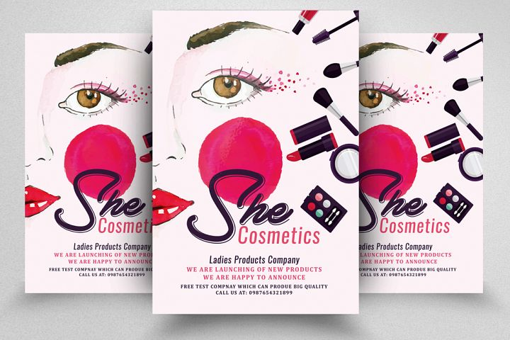 She Cosmetic Flyer Template