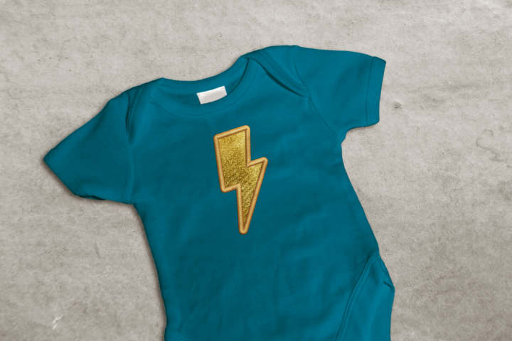 Lighting Bolt Applique Embroidery