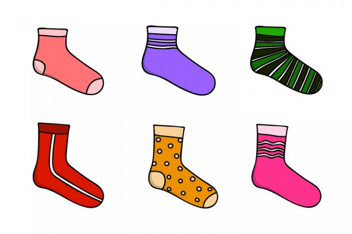 sock vector design collection