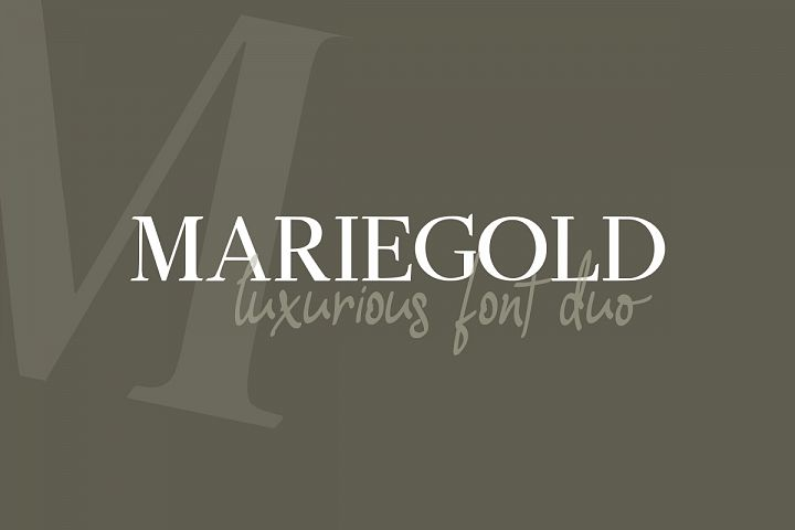 Mariegold Luxury Font Duo