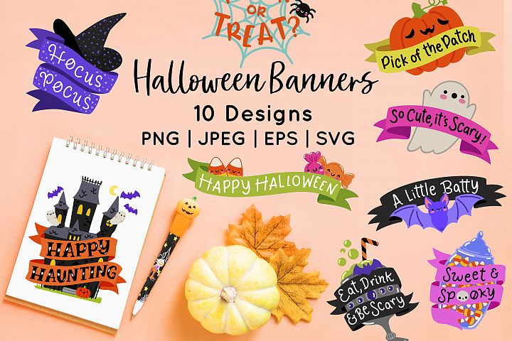 Halloween Banner Vector Clip Art