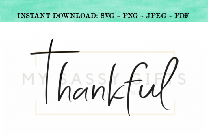 Thankful With Cross Thanksgiving Christmas SVG Design