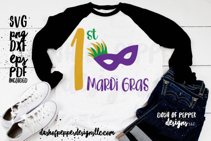 First Mardi Gras Mask SVG - A Mardi Gras SVG
