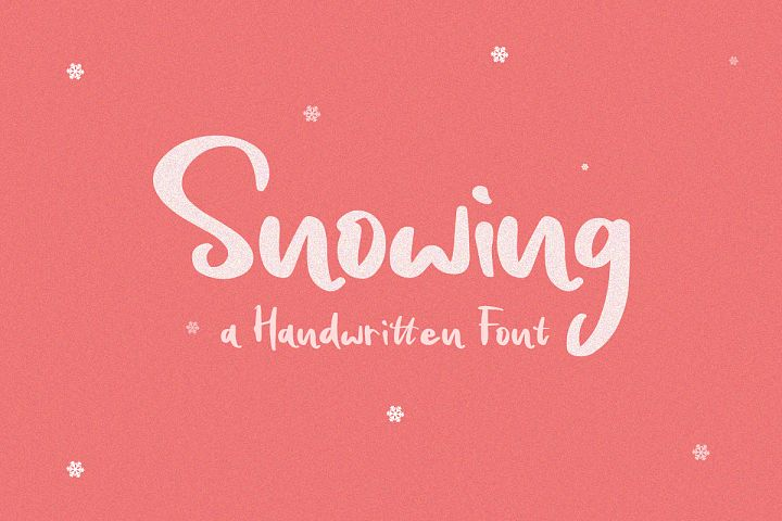 Snowing - Handwritten Font