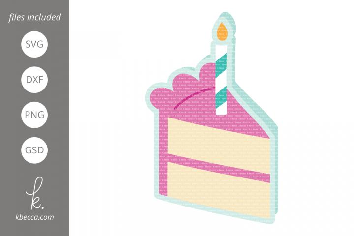 Birthday Cake Card SVG Cut Files