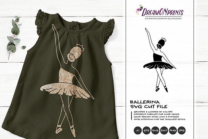 Ballerina SVG Cut File | Ballet | Dance Illustration