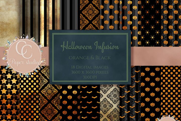 Gothic halloween digital scrapbook paper