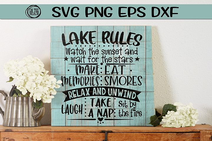 Lake Rules - Sign - SVG PNG EPS DXF