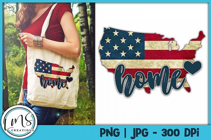 Patriotic United States Home PNG, JPG, Sublimation Design