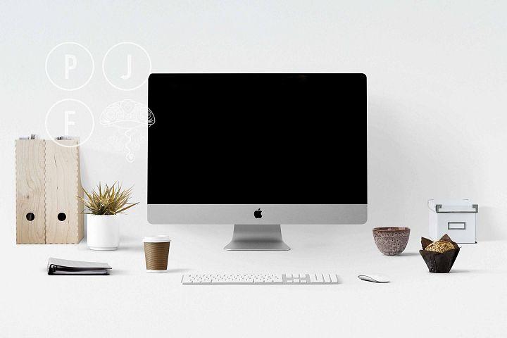 Computer mockup & desk mockup bundle - Free Design of The Week Design5