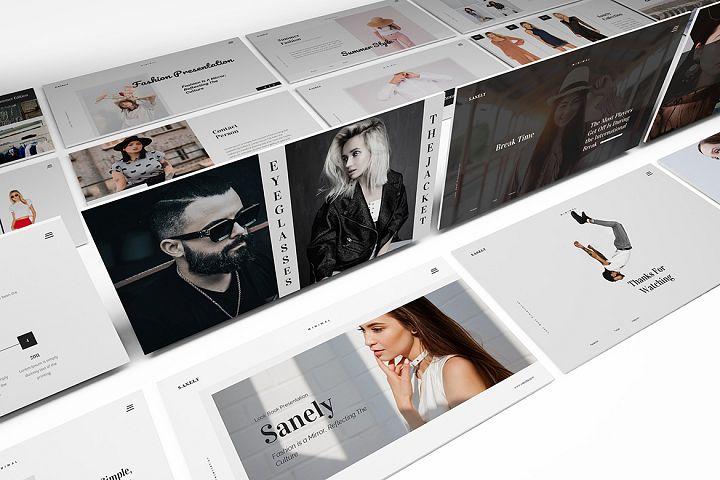 Fashion lookbook Google Slides