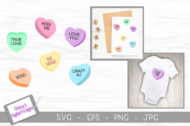 Valentine SVG - Candy Conversation Hearts SVG