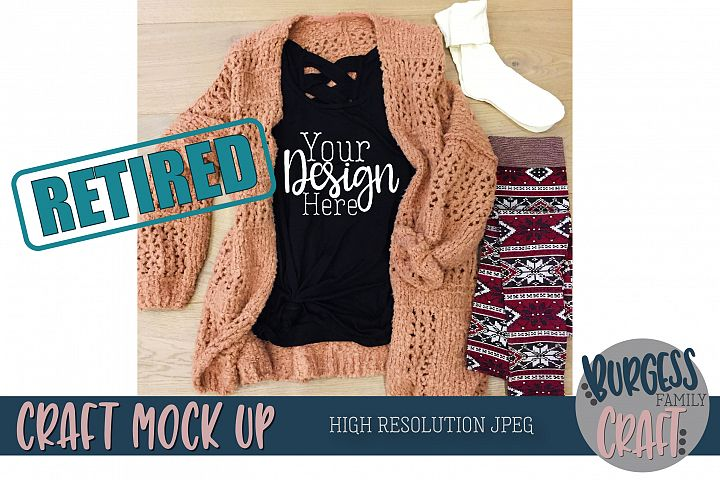 Cozy sweater Legging Craft Mock up | High Resolution JPEG