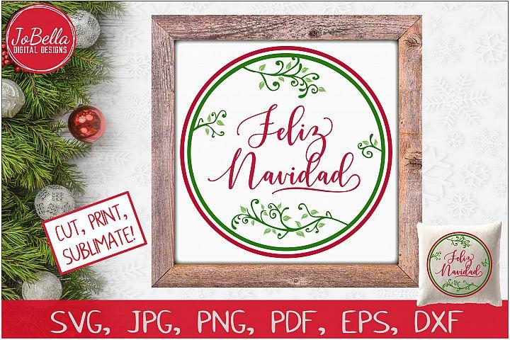 Feliz Navidad SVG Printable & Sublimation PNG