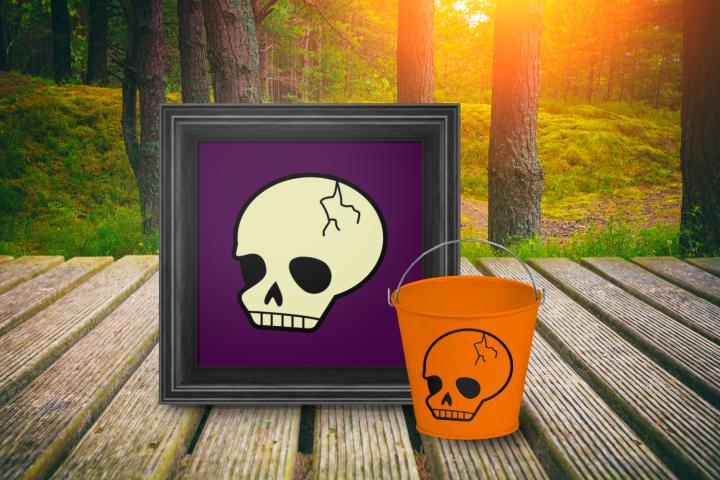 Spooky Cute Halloween Skull SVG File